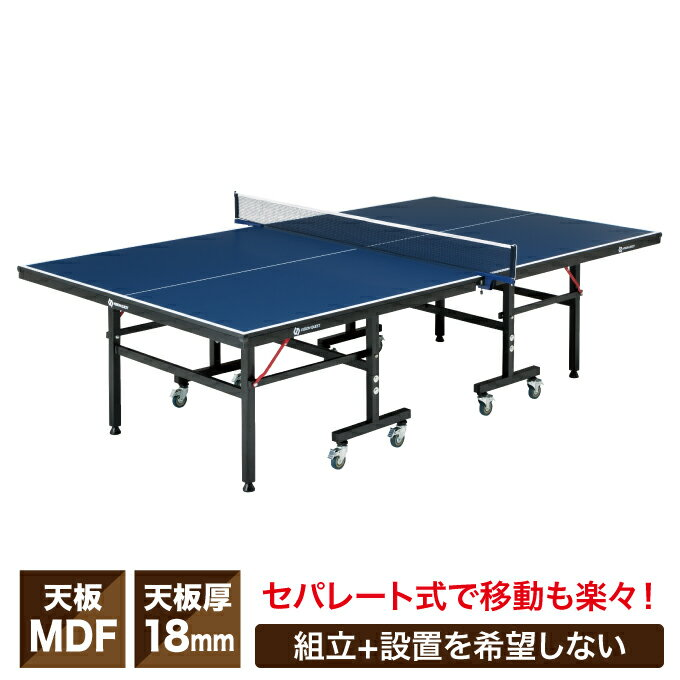 ビジョンクエスト(VISION QUEST) セパレート式卓球台 国際規格サイズ VQ530509I01 天板18mm キャスター付き 組立工具付属