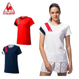 ルコック(Lecoq) テニス ゲームシャツ QTWPJA00 ホワイト(WHT) アーシーレッド(ARD) ネイビー(NVY) 半袖 テニスウェア ウィメンズ レディース JTA公認 2020年モデル