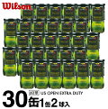 ウィルソン(Wilson) USオープン エクストラデューティー 2球×30缶 (US OPEN EXTRA DUTY) WRT1000J 硬式テニスボール ITF JTA 公認