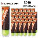 ダンロップ(DUNLOP) ダンロップ セントジェームス 4球×30缶 (STJAMES) ST JAMES TIN 硬式テニスボール 練習球 JTA推奨
