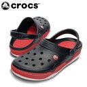 クロックス サンダル ユニセックスフロント コート クロッグ BK/RD14300 crocs