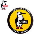 チャムス CHUMSアウトドアアクセサリーステッカー ラウンドブービーバードCH62-0156