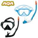 アクア AQA シュノーケリングセット メンズ アビッソソフト & サミードライシリコン2点セット KZ-9053N