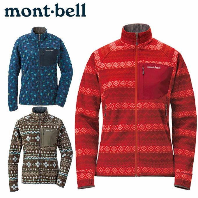 モンベル フリース ジャケット レディース クリマプラス100 プリントジャケット Women's 1106472 mont bell mont-bell