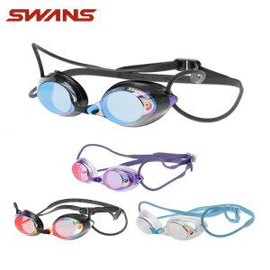 スワンズ FINA承認 クッション付き スイミングゴーグル ミラーレンズ メンズ レディース レーシングミラーゴーグル SRX-M PAF SWANS