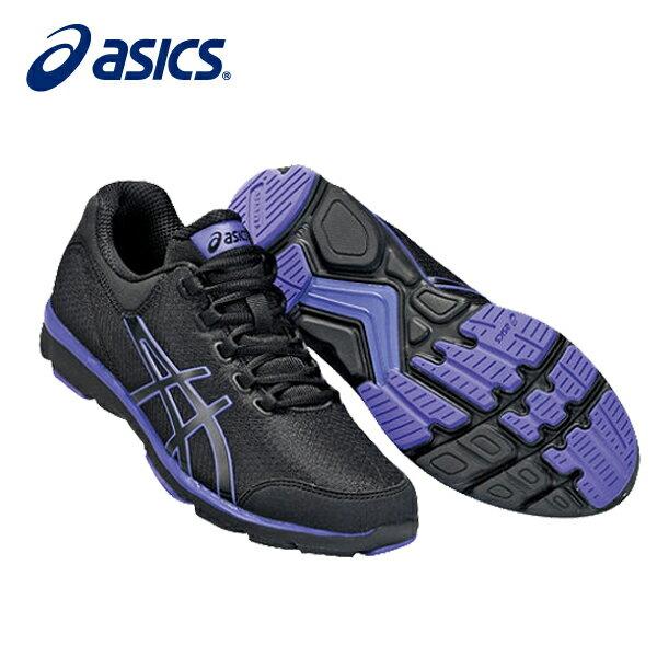アシックス HADASHIFINE744BK/PPL TDW744 9033 ウォーキング シューズレディース ビジネスシューズ ウオーキング カジュアルシューズ 運動 靴 asics