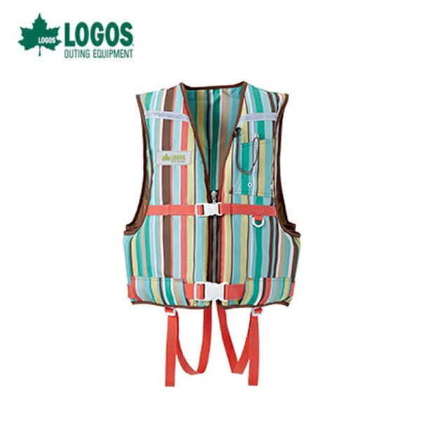 ロゴス(LOGOS) 海水用品  ライフベスト(ユニセックス)ストライプ フローティングベスト大人用66811201