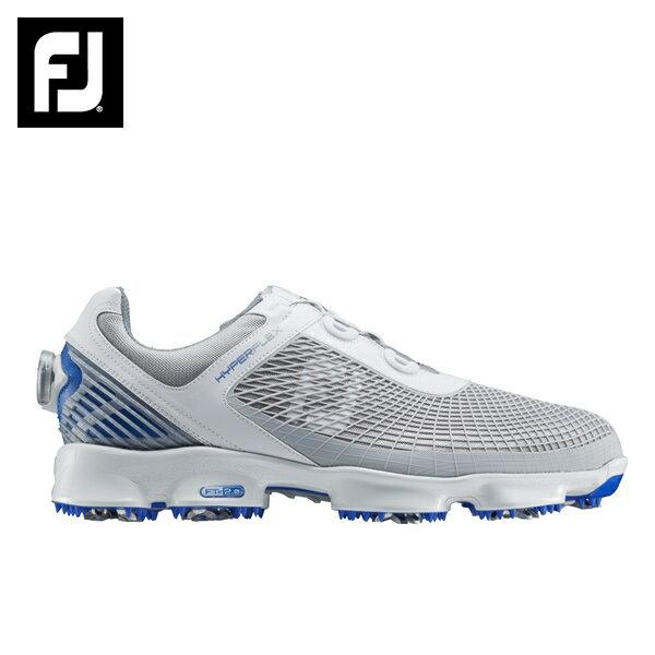 フットジョイ FootJoyゴルフシューズ ソフトスパイク ゴルフスパイクメンズHYPERFLEX BOA ハイパーフレックス ボア WT/GY51053W