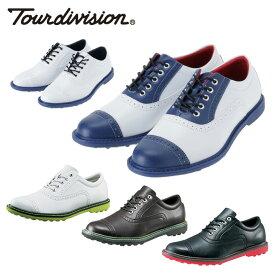 ツアーディビジョン Tour division ゴルフスパイク メンズ クラシックスタイルゴルフシューズ スパイクレス 靴 TD230102E01