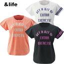 【ポイント5倍 5/29 9:59まで】アンドライフ &life Tシャツ 半袖 レディース AL451102F61
