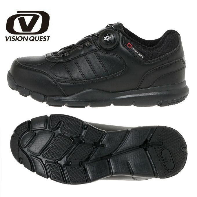 ウォーキングシューズ メンズ レディース FREELOCK ウォークライトBK VQ561101F01 ウオーキング カジュアルシューズ 運動 靴 ビジョンクエスト VISION QUEST
