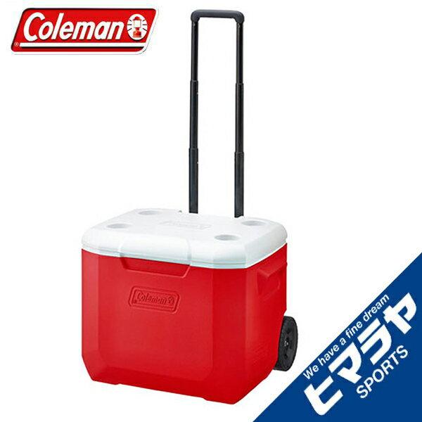 コールマン クーラーボックス 56L キャスター付 ホイールクーラー/60QTレッド/ホワイト 2000027864 coleman