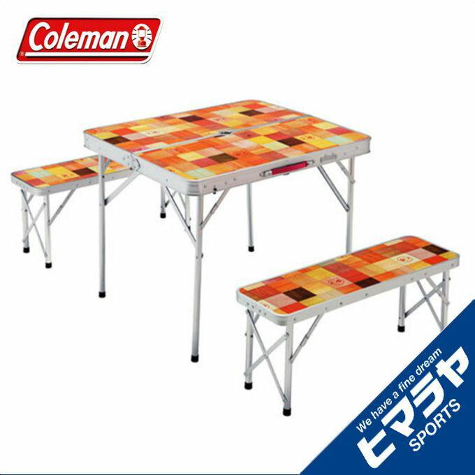コールマン テーブルベンチセット ナチュラルモザイク ファミリーリビングセット/ミニプラス 2000026758 coleman