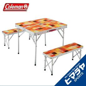 コールマン テーブルベンチセット ナチュラルモザイク ファミリーリビングセット ミニプラス 2000026758 Coleman