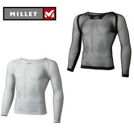 ミレー(MILLET) アンダーシャツ 長袖 メンズ DRYNAMIC MESH 3/4 SLEEVE CREW MIV01356