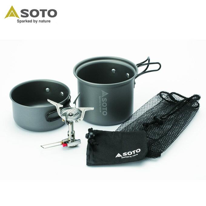 ソト SOTO シングルバーナー アミカスクッカーコンボ SOD-320CC