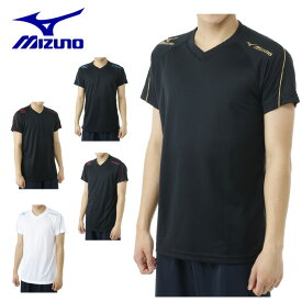 ミズノ MIZUNOバレーボール メンズ半袖ワンポイントTシャツV2MA6401