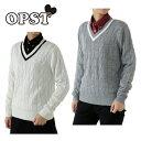 オプスト OPSTゴルフ レディース配色ラインVネックセーターOP220404F01