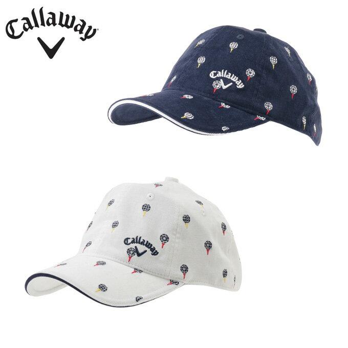 キャロウェイ Callawayゴルフ アクセサリー 帽子 レディースティー刺繍コーデュロイキャップ2416284806防寒