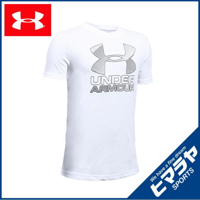 アンダーアーマー 機能ウェア ジュニアスレッドボーンTシャツ ハイブリッドロゴ1290097-100 UNDERARMOUR