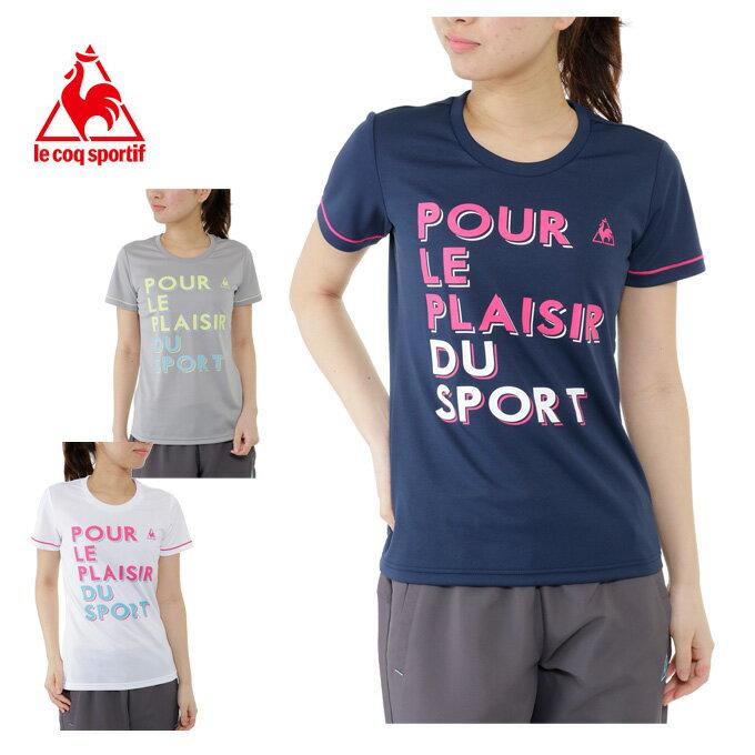 ルコック le coq sportif Tシャツ 半袖 レディース 半袖機能Tシャツ QB-017171C