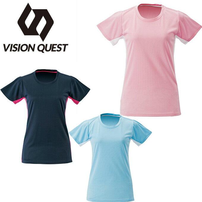 ビジョンクエスト VISION QUEST Tシャツ 半袖 レディース 機能Tシャツ VQ451201G03