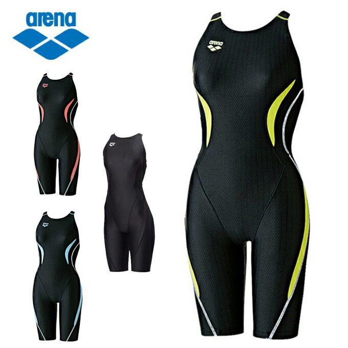 アリーナ arena FINA承認 競泳水着 ハーフスパッツ レディース ウロコスキン セイフリーバックスパッツ ARN-7050W