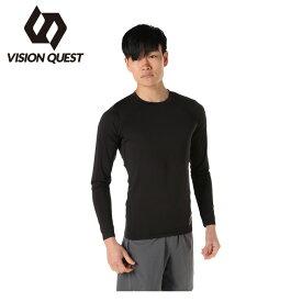 機能インナー 長袖 メンズ ロングスリーブインナーシャツ VQ561005G01 ビジョンクエスト VISION QUEST