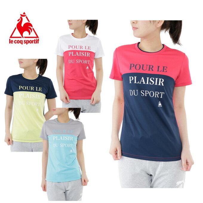 ルコック le coq sportif Tシャツ 半袖 レディース 半袖機能Tシャツ QB-019171T