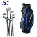 ミズノ MIZUNO ゴルフ セットクラブ メンズ T‐ZOID PLUS Set 5KJSS15327+C/Bag Set