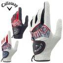 キャロウェイ Callawayゴルフ 左手用グローブ メンズ グラフィックグローブGraphic Glove 17 JM
