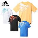 アディダス adidas スポーツウェア 半袖Tシャツ ジュニアBoys TRN フェイディングビッグロゴ TシャツDJH71