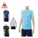 ルコック le coq sportif スポーツウェア 半袖 シャツ メンズ サンスクリーン総柄機能Tシャツ QB-011771