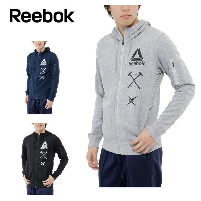 リーボック Reebok スウェットジャケット メンズ ワンシリーズ ムービングハイブリッドスウェット フルジップパーカー LNT28