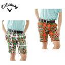 キャロウェイ Callaway ゴルフウェア パンツ メンズ メキシコPTストライプドビーショーツ 241-7123509