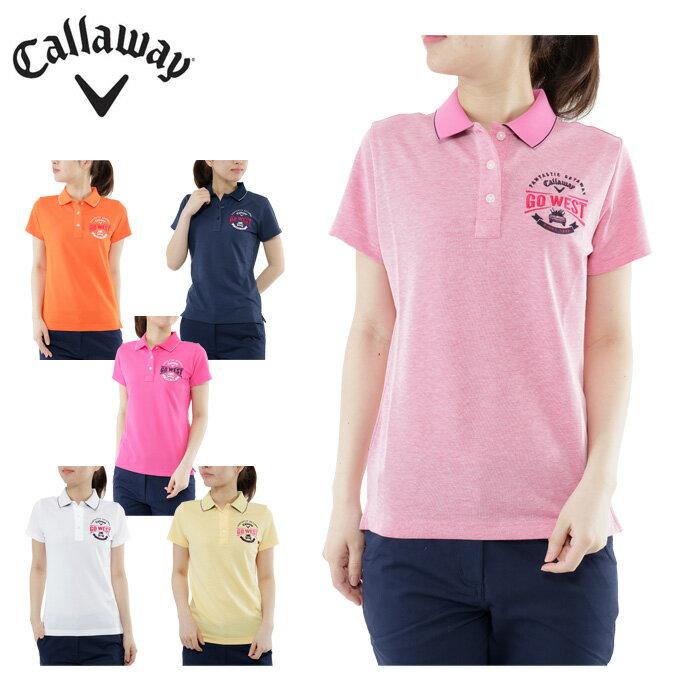 キャロウェイ Callaway ゴルフ レディース 胸ロゴ半袖シャツ 241-7151802