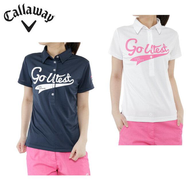 キャロウェイ Callaway ゴルフ ポロシャツ レディース ダブルメッシュ半袖シャツ 241-7157804