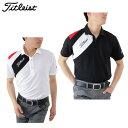 タイトリスト Titleist ゴルフ 半袖ポロシャツ メンズ ディンプルメッシュ キリカエシャツ TSMC1705
