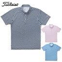 タイトリスト Titleistゴルフウェア ポロシャツ メンズジオメトリックプリント ボタンダウンシャツTSMC1721