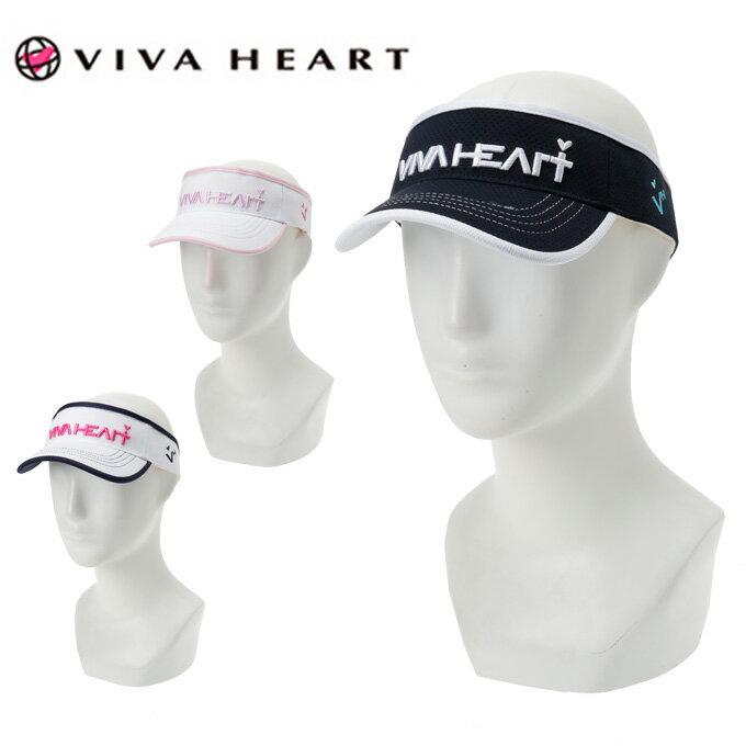 ビバハート VIVA HEART ゴルフウェア レディース スクエアメッシュバイザー 013-55260