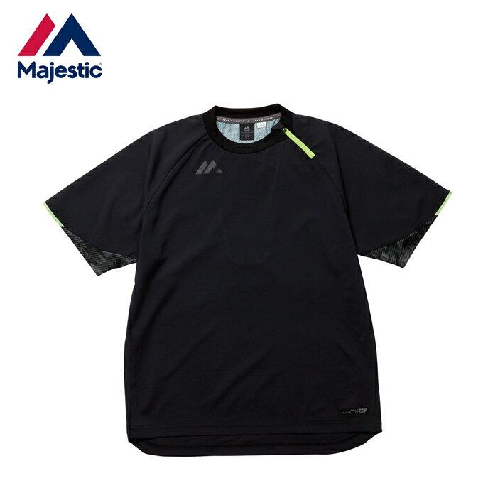マジェスティック Majestic 野球 半袖アンダーウェアオーセンティック ゲーマージャケット ショートスリーブ Authentic Gamer Jacket SS XM23-BLK5-MAJ-0018