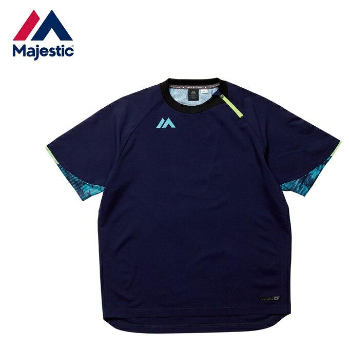 マジェスティック Majestic 野球 半袖アンダーウェア メンズ オーセンティック ゲーマージャケット ショートスリーブ Authentic Gamer Jacket SS XM23-NVY5-MAJ-0018