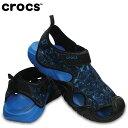 【8/20 20:00〜 4時間限定エントリーでポイント10倍】クロックス crocs ストラップサンダル メンズ swiftwater edge moc スウ...