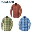 【ポイント5倍 5/20 20:00〜5/25 1:59迄】 モンベル mont bell長袖シャツ メンズWIC.ライト シングルポケット ロング…