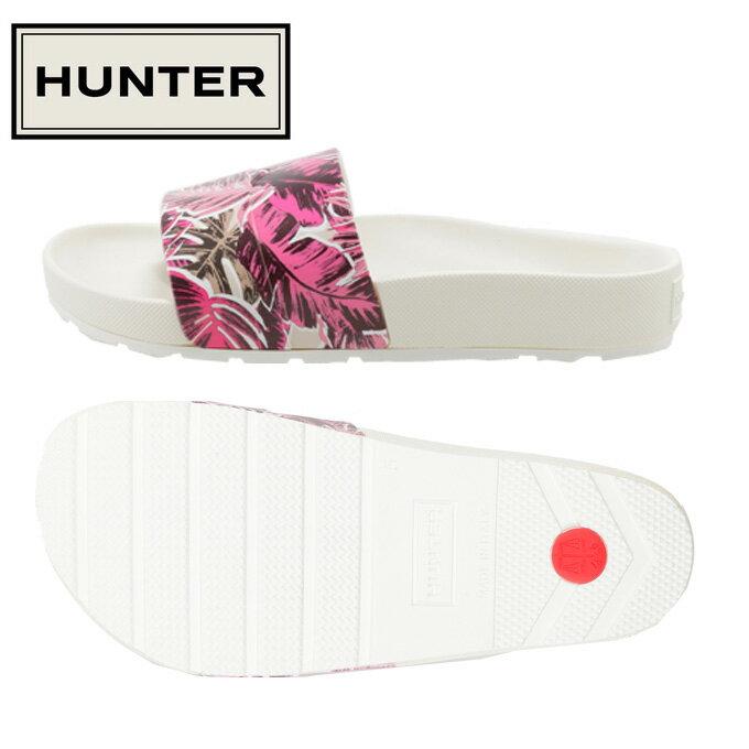 ハンター HUNTER サンダル レディース オリジナル ジャングル プリント スライド WFD1049EJP