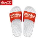 コカコーラ COCA COLA シャワーサンダル CS1701 ホワイト×レッド
