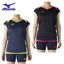 ミズノ MIZUNO バレーボールウェア レディース キャップスリーブプラクティスシャツ V2MA7282