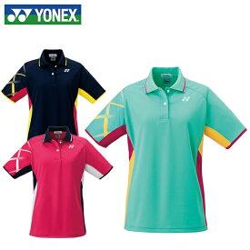 48446725338cf5 ヨネックス テニスウェア バドミントンウェア ゲームシャツ レディース ゲームポロシャツ 20377 YONEX 日本バドミントン協会審査