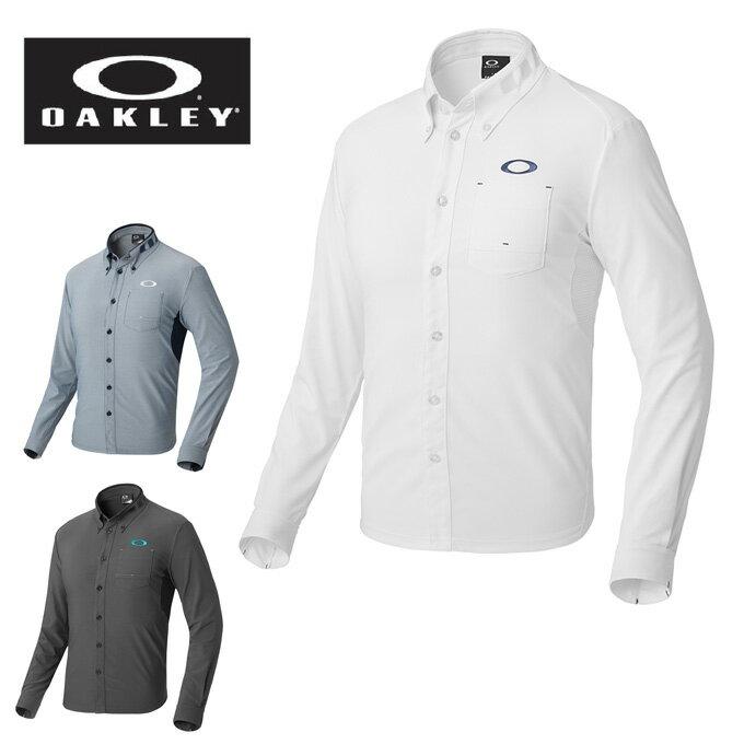 オークリー OAKLEY ゴルフウェア シャツ 長袖 メンズ BARK CHAMBRAY WOVEN LS SHIRTS 434087JP