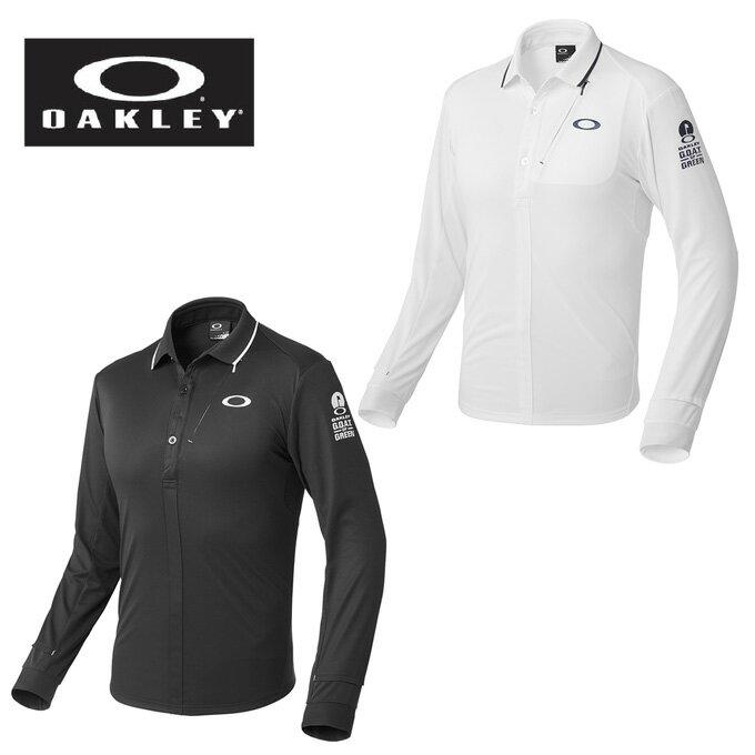 オークリー OAKLEY ゴルフウェア ポロシャツ 長袖 メンズ BARK WIND BREAK LS SHIRTS 2.0 434090JP